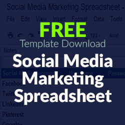 Free Download Social Media Marketing Spreadsheet