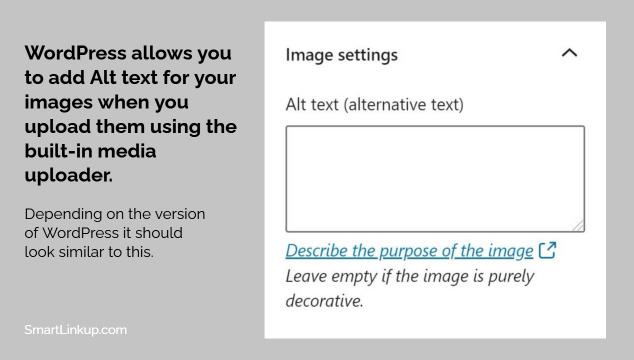 Image Alt Text WordPress